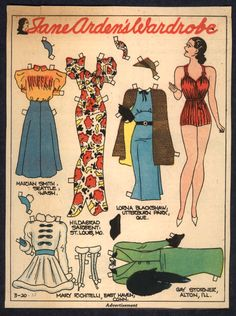 Jane Arden Paper Dolls - Bing Images