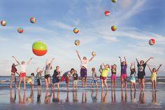 Beach balls  by Leah Cook