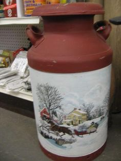 Painted milk cans for sale - Yakaz For sale