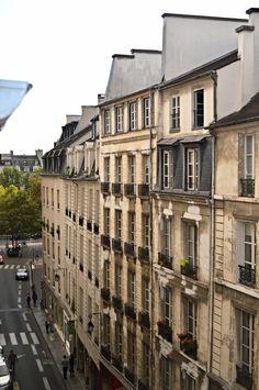Rue de Saint Paul from an apartment window