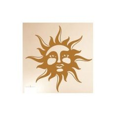 "Style and Apply Sun Wall Decal Size: 46"" H x 46"" W, Color: Brown"