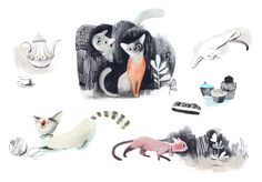 Catbird » Isabelle Arsenault -- cats