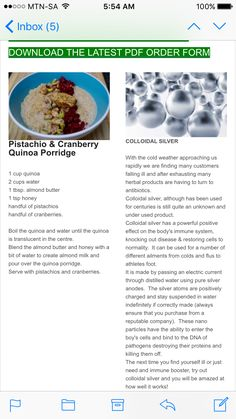 Pistachio & cranberry quinoa porridge More