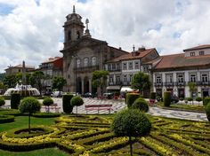 Plaza in Guimarães, Portugal Places In Portugal, Spain And Portugal, 12th Century, Portuguese, Places To Travel, Palace, Explore, Mansions, House Styles