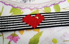 #heart #latevalentines #shashasbeading #jewelry #delica #nz #miyuki #beadloom #beadbracelet #handmadebracelet #miyukidelica #giftideas… Bead Loom Patterns, Beading Patterns, Stitch Patterns, Beading Ideas, Handmade Bracelets, Handmade Jewelry, Beaded Jewelry, Beaded Bracelets, Native American Beading