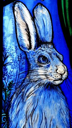 """small detail of stained glass in All Saints Church Denmead Hampshire made 2013 by Jude Tarrant of Sunrise Stained Glass Ltd, Hampshire. To illustrate Psalm 24 Vs 1: """"The earth is the Lord's, and the fullness thereof; the world and everything in it"""". A celebration of the beauty of the natural world."""