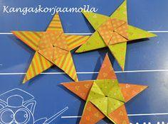 viisisakarainen origami tähti Origami, Flag, Christmas, Xmas, Origami Paper, Navidad, Science, Noel, Natal