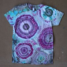 Tie Dye Shirt Large Hand Dyed T shirt by ChromaticKiddos on Etsy
