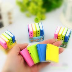 Free shipping Fashion Candy color Book Shape Learn Chinese Eraser/ Animals Novelty eraser / Rubber Eraser/ For kids Gifts-in Eraser from Off...