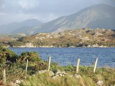 view of #Connemara's Mountains and sea view