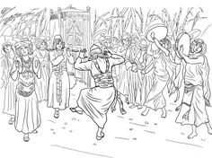 King David Dancing Before The Ark Of Covenant Coloring Page From Category Select 28283 Printable Crafts Cartoons Nature Animals