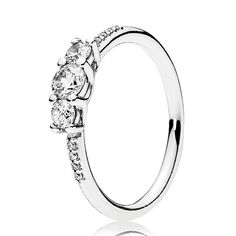 e47e6b283 PANDORA Fairytale Sparkle Ring, for everyday sparkle, this gorgeous ring is  the perfect choice. Sterling silver and a crown of clear cubic zirconia  stones ...