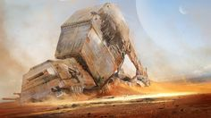 cinemagorgeous:  Tributes to the ruined vehicles of Star Wars, by artist Tysen Johnson.