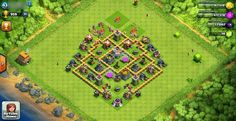 Contoh Base Clash Of Clans Untuk Townhall Level 6 Full Defense #ClashOfClans #COC #base #townhall #level6