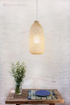 Bamboo Pendant Light Repurposed Fish Trap Ceiling by OrientalBazar