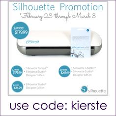 {silhouette promo and PORTRAIT giveaway!!!} Tips for the Silhouette
