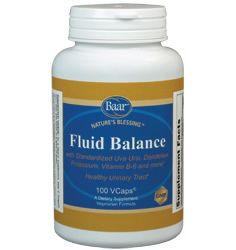 Baar Products Fluid Balance is a synergistic herbal blend that supports urinary tract health. Uva Ursi, Dandelion, Goldenrod and Juniper are herbs that can help to relieve minor, temporary water retention while supporting healthy kidney function. These and other ingredients in Fluid Balance are known to act in a gentle manner to maintain water equilibrium, as well as essential electrolytes.