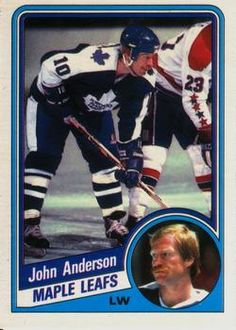 1984-85 O-Pee-Chee #295 John Anderson Front