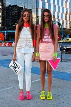neon fashion | Tumblr