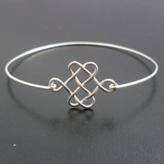 Armreif Knoten  - Silber Armband