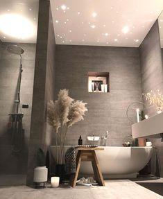 Relaxing Bathroom Decor Ideas For Your Bathroom Look Dream Bathrooms, Beautiful Bathrooms, Modern Bathroom, Bathroom Bath, Bath Shower, Bathroom Marble, Marble Wall, Navy Bathroom, Relaxing Bathroom