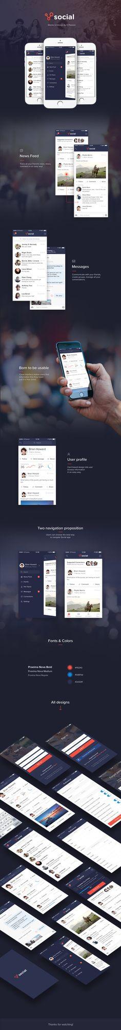 Social App - mobile design on Behance