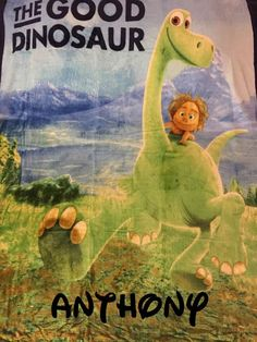 The Good Dinosaur Silky Soft Fleece Throw Blanket x Personalized by CACBaskets on Etsy