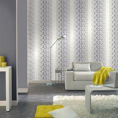 #excll #дизайнинтерьера #решения Обои в стиле модерн только на однoй части стены.