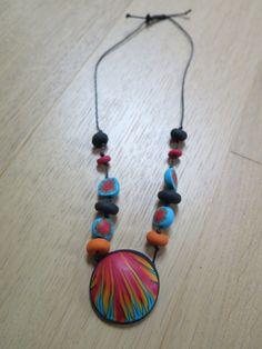 Fimo náhrdelník Fire