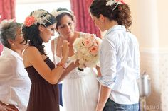 A beautiful bride preparing for her big day