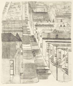 Street Scene on 21st Street San Francisco, n.d., Jennie Lewis - Smithsonian American Art Museum