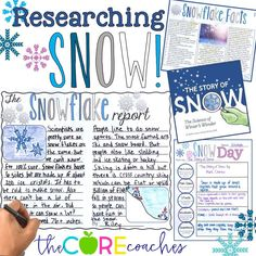 Research snow and how snowflakes are formed using differentiated articles and texts. Students highlight, take notes, then write an informational report about snow. 12 Days of Christmas in the Classroom by The Core Coaches