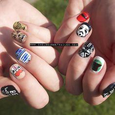Heroes & Villains - 20 Amazing Star Wars Themed Nail Art  - Photos