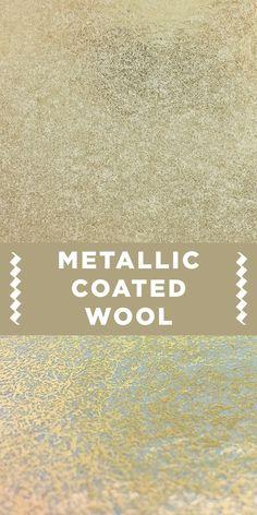 Gold Wool and Rayon Metallic Coated Felt