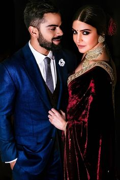 Anushka Sharma and Virat Kohli Wedding is definitely the event of the year. After all Anushka Sharma and Virat Kohli have been dating for a good long time, and their fans have been waiting for them to get hitched! Couple Wedding Dress, Wedding Dresses Men Indian, Indian Wedding Couple, Indian Bridal Outfits, Indian Bridal Fashion, Indian Designer Outfits, Indian Weddings, Indian Wedding Pictures, Desi Wedding