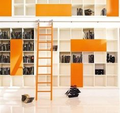 Needs me a rolling library ladder for our hall library!
