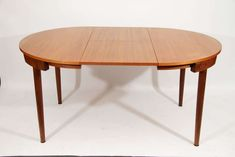 Hans Olsen Teak Dining Table with Extension and Six Chairs image 4 Furniture For Small Spaces, Cool Furniture, Furniture Design, Space Furniture, Teak Dining Table, Extendable Dining Table, Extension Dining Table, Vintage Table, Vintage Designs