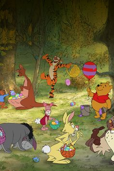 Winnie The Pooh Coloring Pages and Easter Egg Decorating Ideas! Easter Coloring Sheets, Easter Colouring, Winnie The Pooh Friends, Disney Winnie The Pooh, Eeyore, Tigger, Easter Cartoons, Happy Easter Sunday, Easter Wallpaper