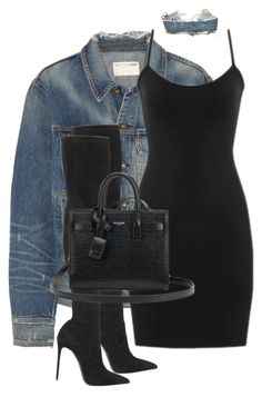 """Untitled #3592"" by xirix ❤ liked on Polyvore featuring rag & bone, Levi's, Le Silla and Yves Saint Laurent"