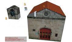 Composición de la maqueta de papel de la capillaLa maqueta en papel consta de 3 piezas fáciles de montar: el edificio en sí, el campanario y la pequeña cruz superior. Esta última es todo un desafío para las escalas más reducidas.