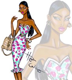 Hayden Williams Fashion Illustrations | 'Boldly Beautiful' by Hayden Williams