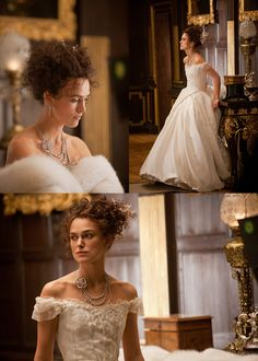 I love this dress and necklace from Anna Karenina