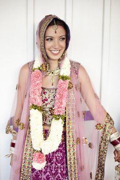 purple indian wedding dress.