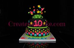 Glow In The Dark Cake This Cake Glows Under A Blacklight We Used