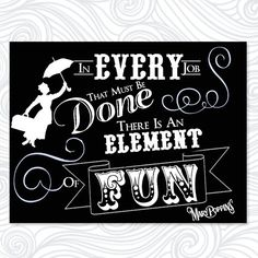 Black and White Mary Poppins Movie Quote by HunterAndHazelDesign, $30.00 Printable Artwork - Digital Download
