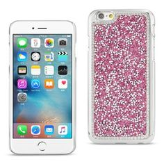 Reiko iphone6/6s 4.7inch Diamond Protector Cover Pink With Beauty Glitter Rhinestone