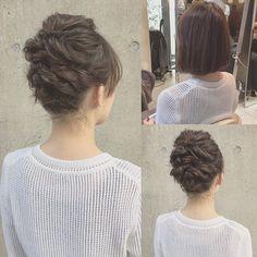 hairarrange* * bob * 右上Before * #hairarrange #ヘアアレンジ #ヘアセット #結婚式 #二次会 #ボブ #ボブアレンジ #東京 #kanekoarrange