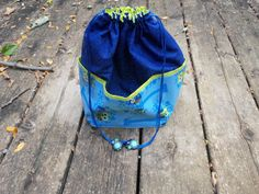 Medium  KNIT / CROCHET  Project Bag by StitchedNaturally on Etsy
