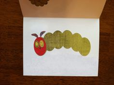 Inside of Hungry Caterpillar card.