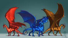 Three Dragons by KaiserFlames.deviantart.com on @deviantART